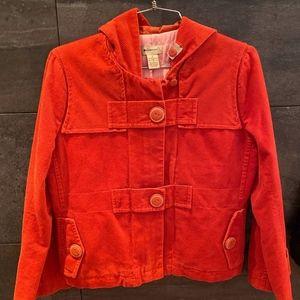 Elevenses orange hooded jacket size 2